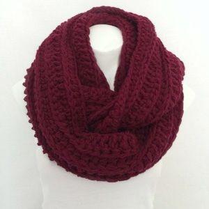 Burgundy infinity scarf